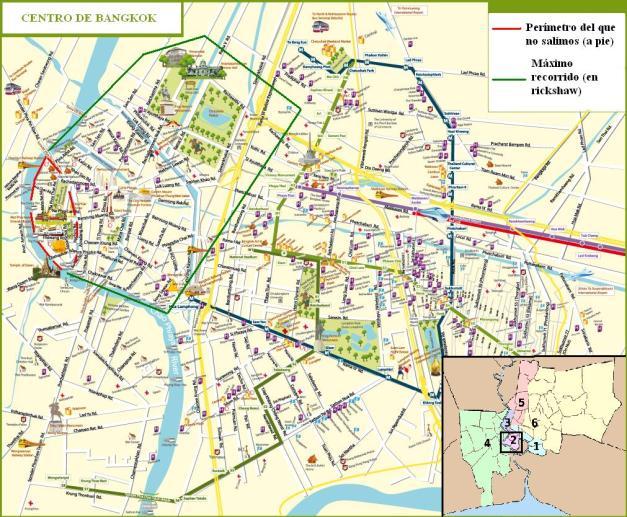 mapa bangkok