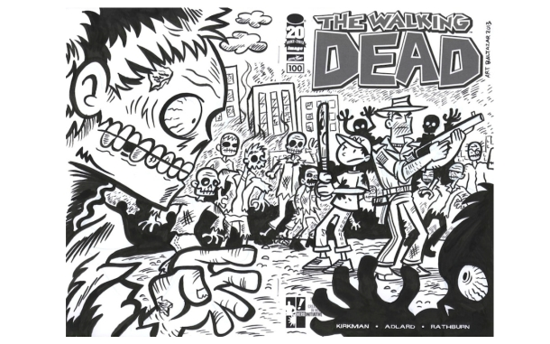Portada de The Walking Dead, por Art Baltazar (www.thewalking dead.com)